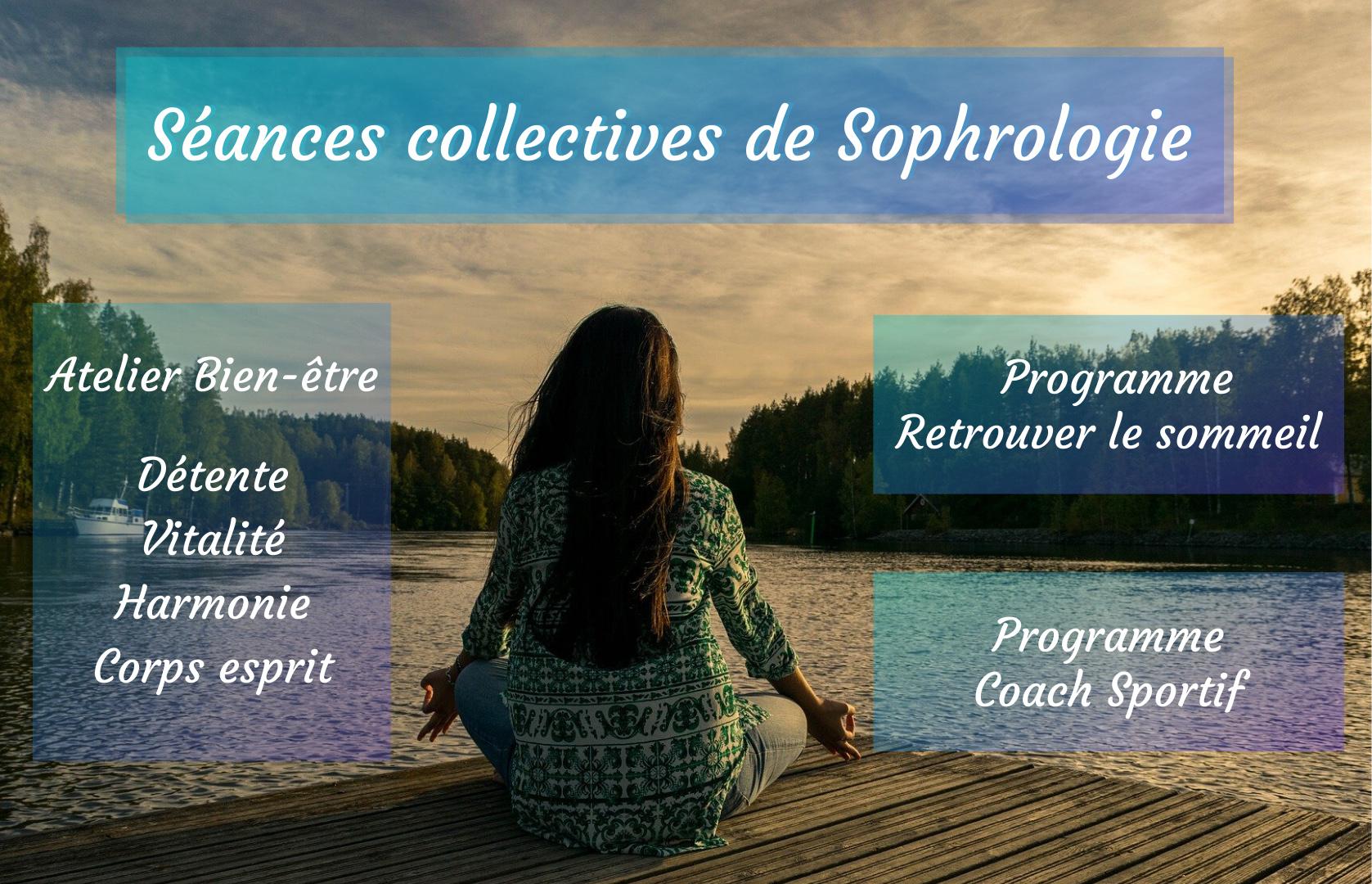 Séance collective de sophrologie, Gestion du sommeil, détente, bien-être