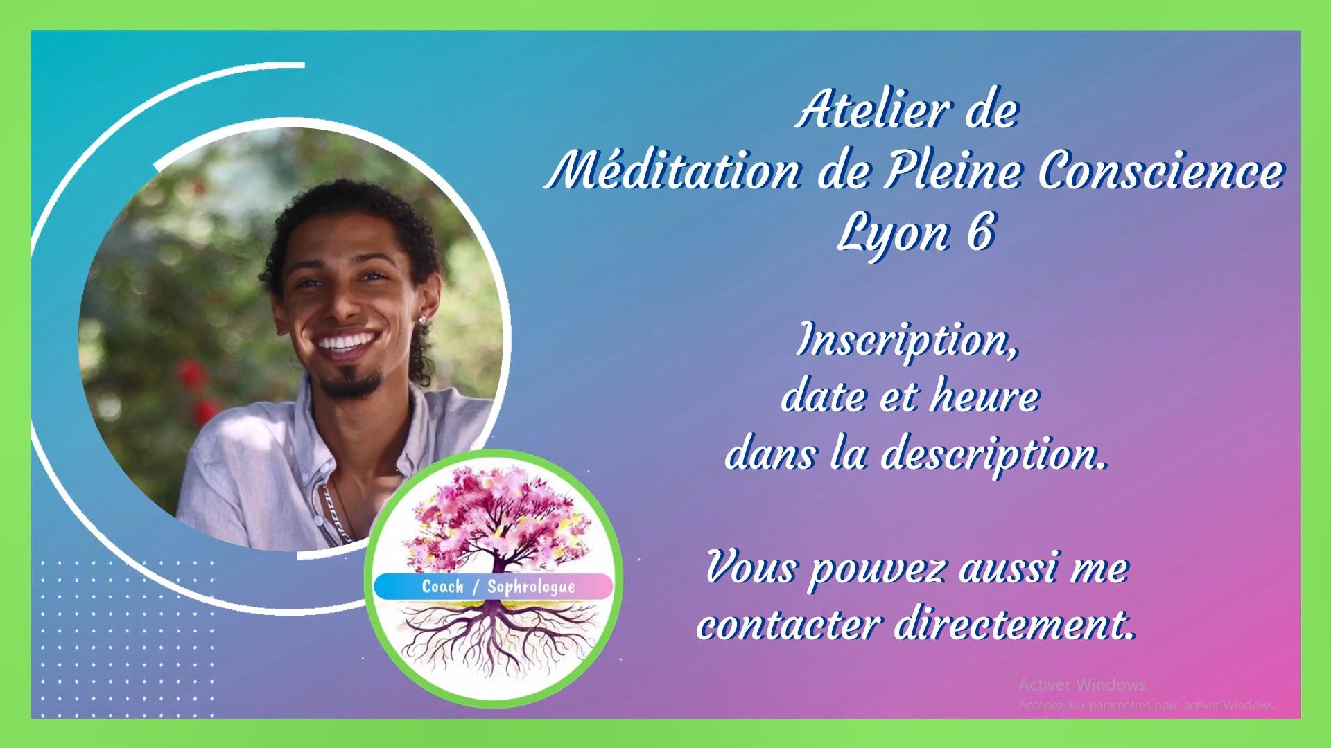 atelier de méditation de pleine conscience